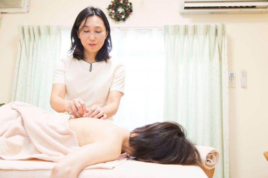 背部の鍼治療